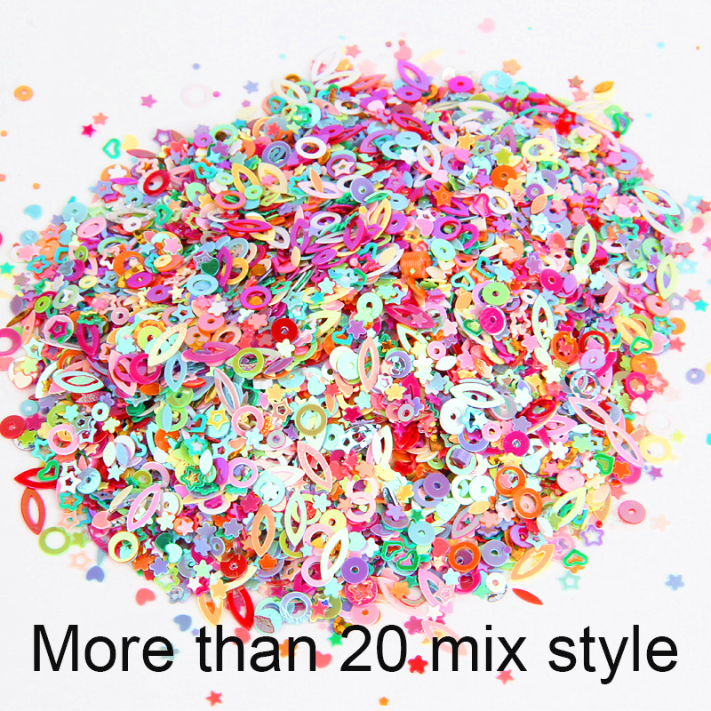 silver coloured sequins for sewing 20g of mixed cardmaking or other crafts