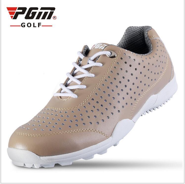 Factory engros nye mænds sportssko hul golf sko åndbar slip gummi base