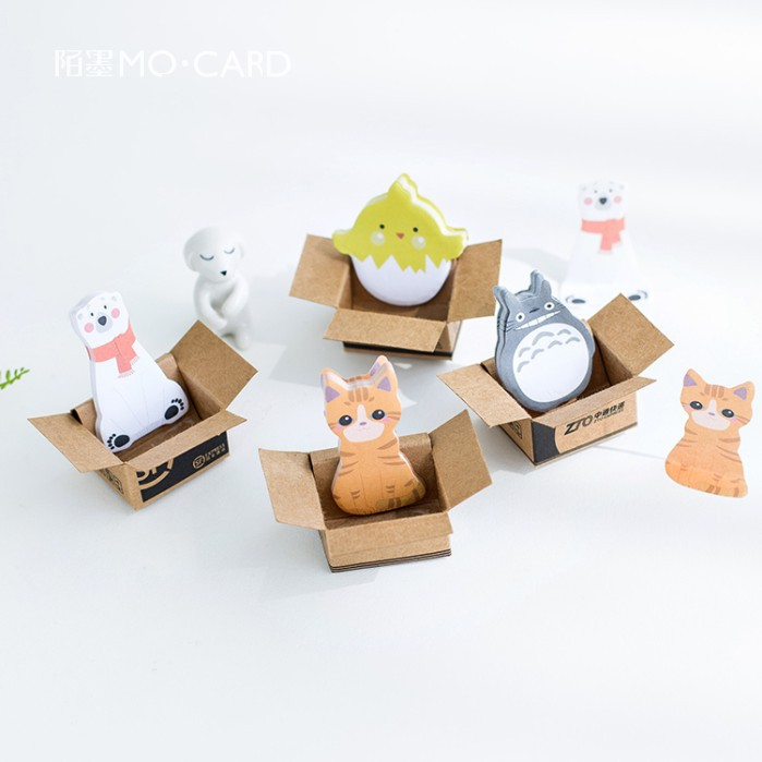 40Set Memo Pads Sticky Notes Kawaii Cute Animals Box Paper Notepad Daliy Scrapbooking Stickers Office School stationery Bookmark 200 sheets 2 boxes 2 sets vintage kraft paper cards notes filofax memo pads office supplies school office stationery papelaria