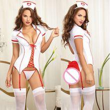 Sexy White Nurse Costume for crossdresser shemale