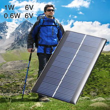 Panel 6V 0.6W Charger DIY for Phones Solar Light Portable Battery Toy цена 2017
