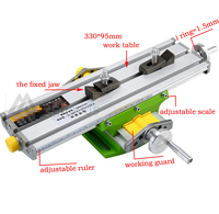 Mini 6330 Miniature precision multifunction Milling Machine Bench drill Vise worktable X Y axis adjustment Coordinate table