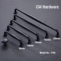 CW Hardware DECFAB 3185 Zinc Alloy 96mm 128mm 160mm 192mm 256mm Furniture Drawer Pulls American Black Cabinet Knobs And Handles