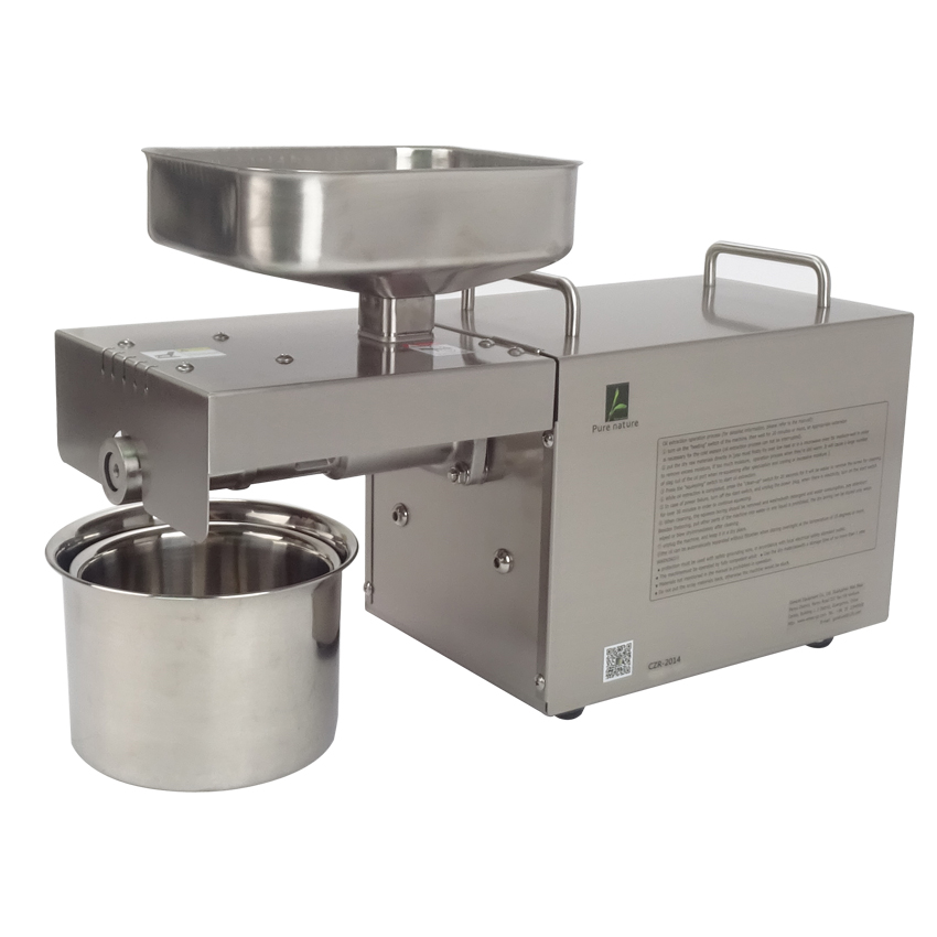 1pc CZR-2014 small oil press machine Automatic stainless steel oil press High oil Extraction Rate Labor Saving