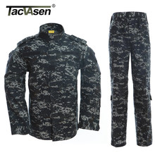 TACVASEN Ocean Camouflage Clothes Men Tactical Military Uniform Army Combat Uniform Jacket+Pants Clothes Army Set TD-WHFE-013(China)