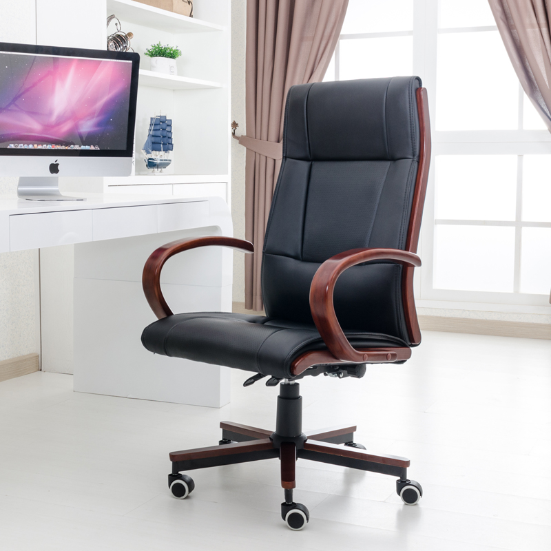 High Back Black Leather Executive Swivel Chair With Synchro Tilt Mechanism Office  Furniture Executive Office Chair Armchair In Office Chairs From Furniture  ...