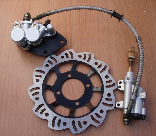 Footbrake Master Cylinder Rear Brake Pads Disc For 110cc 125cc Dirt Pit Bike