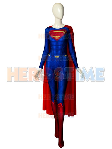 Superman Costume Spandex Printed Zentai Man Of Steel Superman Costume Halloween Cosplay Superhero Bodysuit With Cape Custom Made