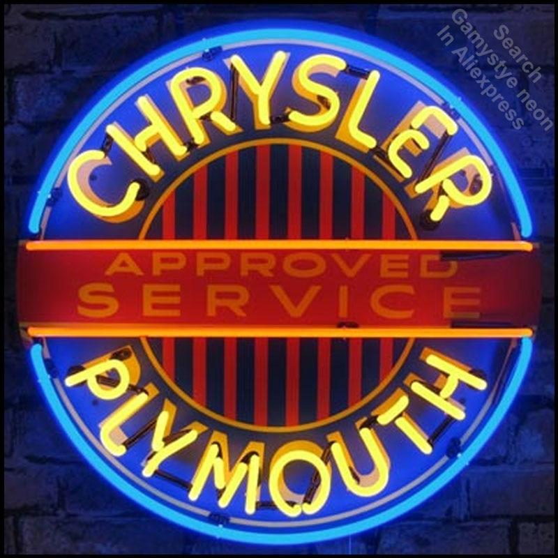 Enseigne au néon Mopar chrysler plymouth décor Tube de verre artisanat Garage lumière signes logo de marque personnalisée Art personnalisé lampes au néon