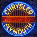 Mopar Chrysle plymouth Neon Sign decorazione Tubo di VETRO Artigianato Garage Luce Segni personalizzato logo del marchio personalizzato di Arte lampade al neon