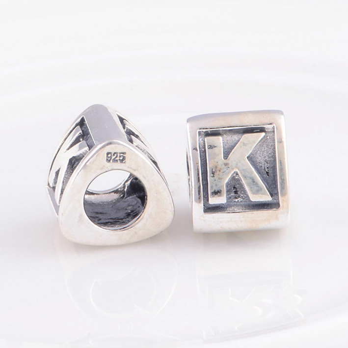 8feda849e ... ireland fits pandora charms bracelet 925 sterling silver beads alphabet  k charm bead letter diy making