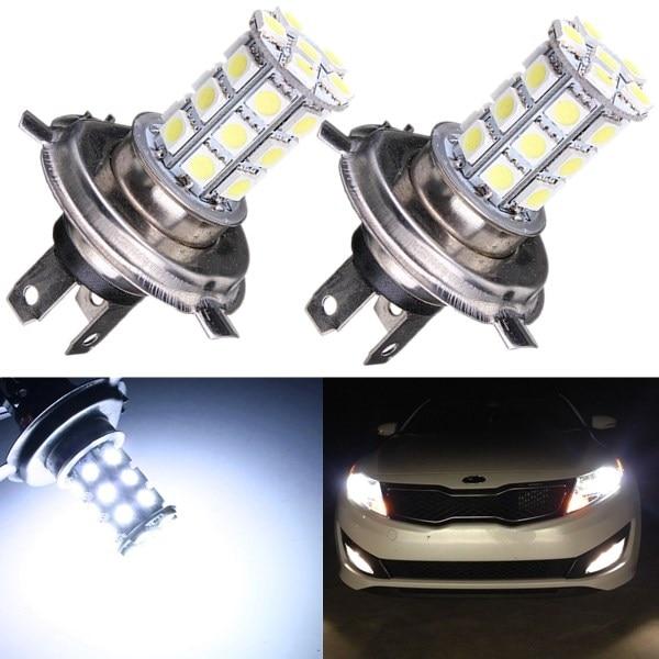 3 W Sagitar spécial H4 voiture feux de route phare, H4 voiture feux de croisement phare 5050 27-smd ampoule LED brouillard drl jour ru (4 pièces DC12V)