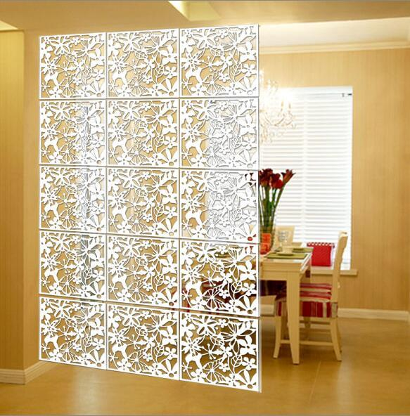12pcs Folding Screen Paravan Biombo Chineses Wall Panels Hanging Screens Openwork Grilles Tv Backdrop Stickers