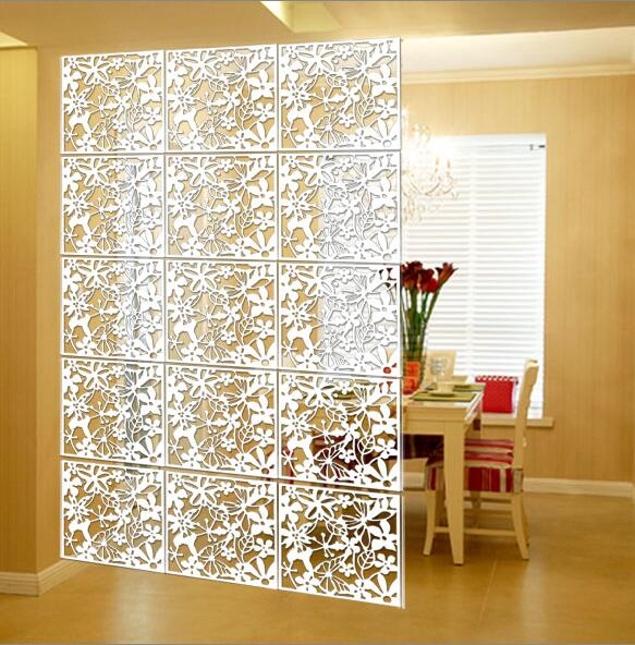 Folding screen Paravan Biombo chineses Wall panels Hanging Screens Openwork grilles TV backdrop stickers Hanging 40cmx40cm