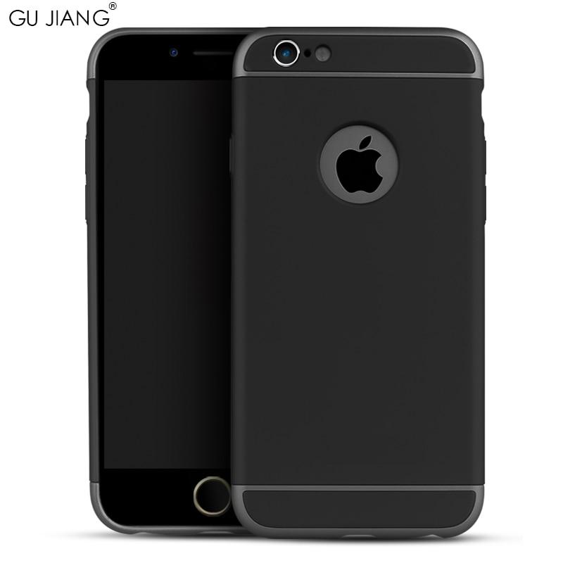 Original GU JIANG varumärke lyx design 3 i 1 etui skydd för iPhone - Reservdelar och tillbehör för mobiltelefoner