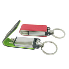 free shipping high quality oem factory price magnet leather usb flash disk 64gb keychain usb