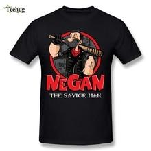 O-neck Men Negan the Savior man T-shirt Nice Tee Shirts Round Neck Tee Plus size Tees Nice Short-sleeved цена 2017