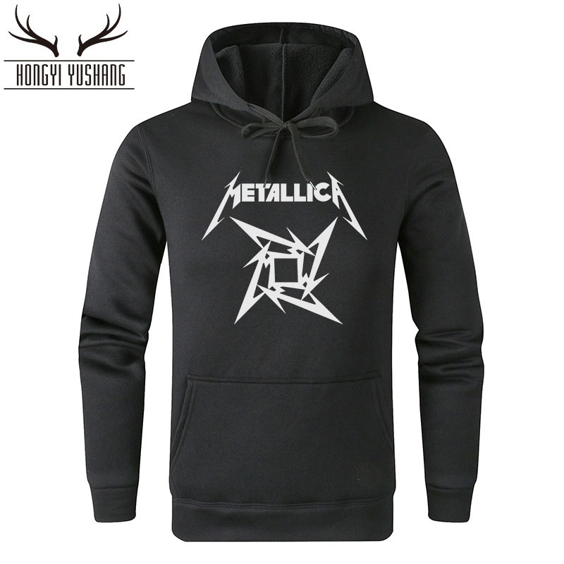 2018 Heavy Metal Rock Band Metallica Hoodies Men Cotton Winter Sweatershirt Hoody With Hoodie For Men Women Pullover W25