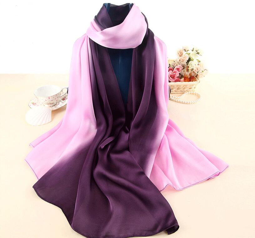 2017 luxury brand   scarf   silk shawl fashion soft women   scarf   summer silk   scarves     wraps   bandana lady pashminna pareo beach foulard