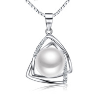 Sinya Pearl Pendant Necklace With 16 18inch 925 Sterling Silver Box Chain Natural Freshwater Pearl 9