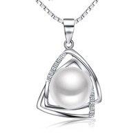 Sinya Pérola pingente de colar com 16,18 inch cadeia de caixa de prata esterlina 925 natural água doce da pérola 9.5-10mm charme sinya tz09044p