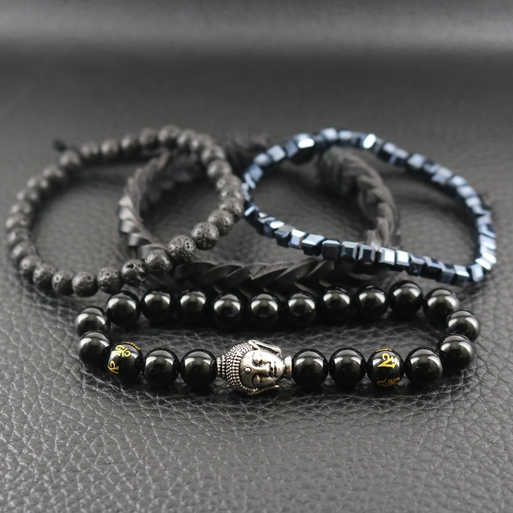 Buddha Black Smooth Onyx Stones Lava