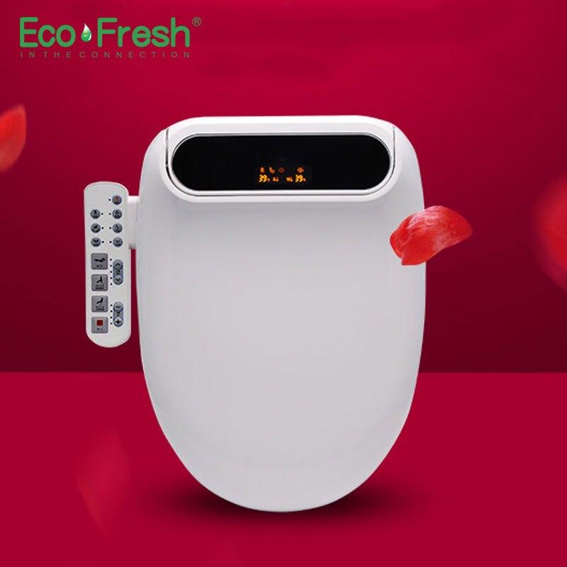 Ecofresh Smart сиденье для унитаза мочалка удлиненный Электрический биде крышка светодио дный тепла свет стирка сухой массаж человек женщина реб...