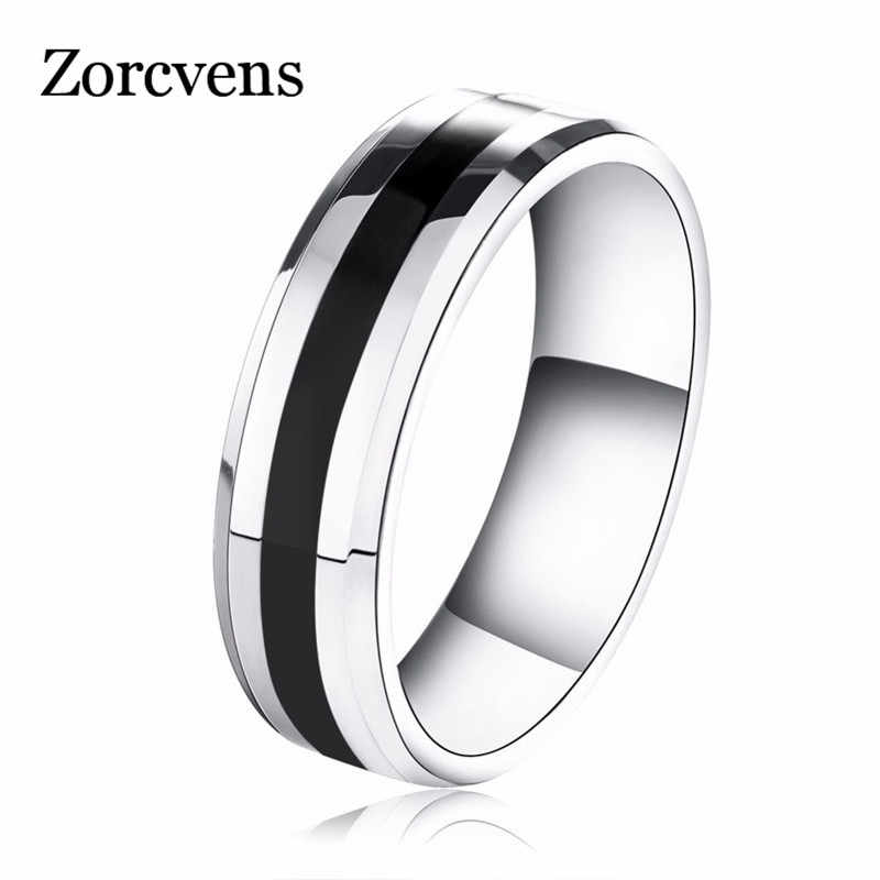 ZORCVENS New Arrival 316L Stainless Steel Couple Ring Fashion Design Ring for Men and Women Popular Ring Free Shipping
