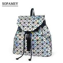 Sopamey Новинка 2017 года геометрические женщины Рюкзаки известный сумка студента школьная сумка для девочки-подростка ежедневно шнурок женщины рюкзак мешок