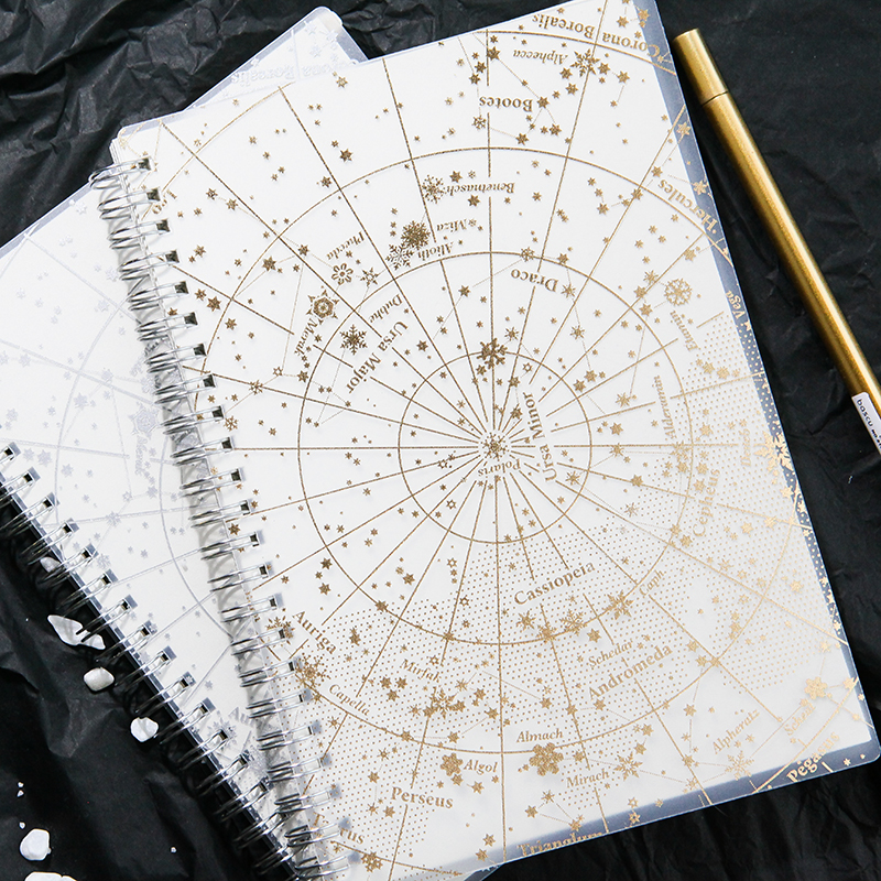 Star Map Notebook Hot Stamping A5 B5 Notebook Laser Note Coil Notebook 1PCS