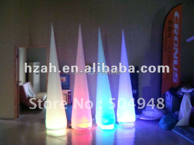 Light inflatable colorful cone decorationLight inflatable colorful cone decoration