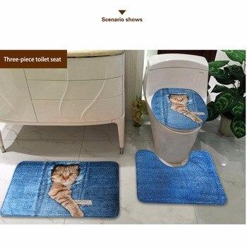 Sedile Del Water Morbido | HUGSIDEA Animale Bello Del Cane Tavolette Copriwater 3D Bassotto Stampa Cappotto Wc Custodie Complementi Arredo Casa Scaldino Molle Bagno Tappeto Tappetini