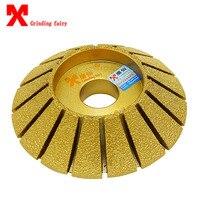 Brazing diamond grinding wheels 45 degree hypotenuse stone machine abrasives grinding wheel granite grinding disc grinding tools