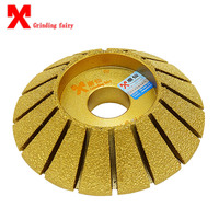 Brazing diamond grinding wheels 45 degree hypotenuse stone machine abrasives grinding wheel granite grinding disc grinding tools