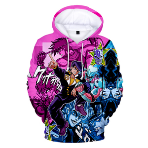 Image 1 - 3D Print Hoodies Men/Women Comic JOJO Hip Hop Sweatshirt Harajuku Tops Hooded Boys/Girls JOJO Streetwear Pullovers