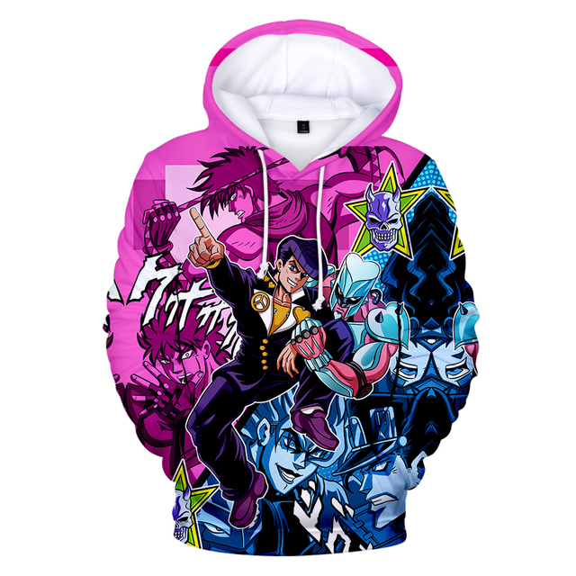 3D Print Hoodies Men/Women Comic JOJO Hip Hop Sweatshirt Harajuku Tops Hooded Boys/Girls JOJO Streetwear Pullovers