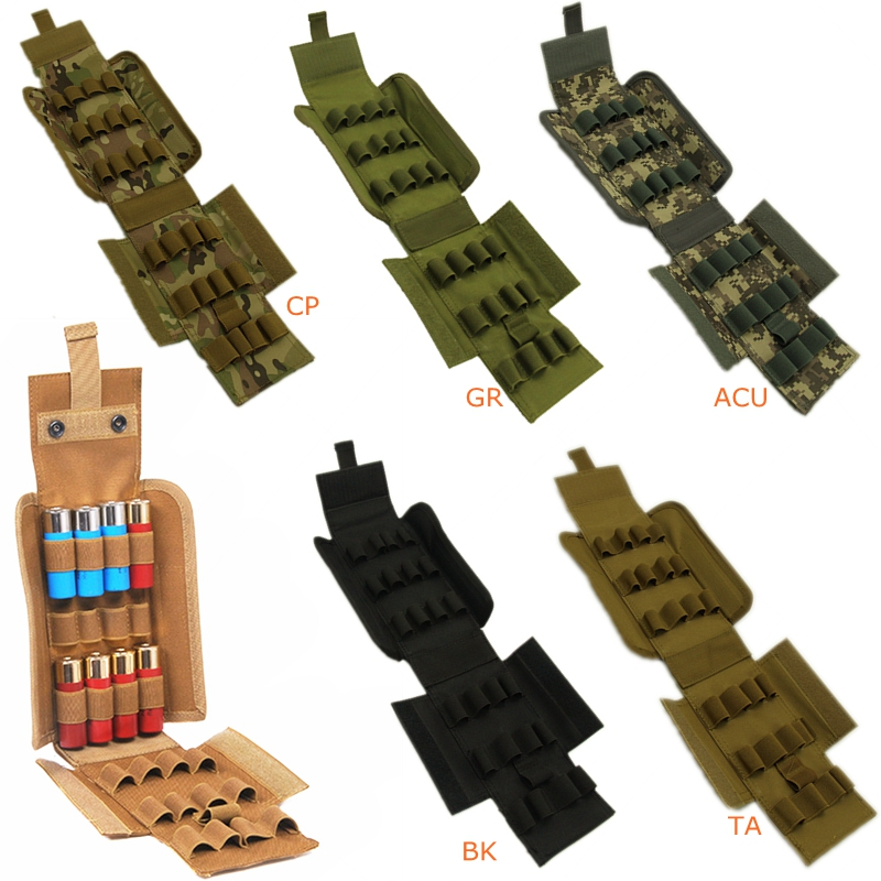 5 Color New Hunting Tactical Magzine Pouch Airsoft Molle 5 Round 12 Gauge Shells Shotgun ...