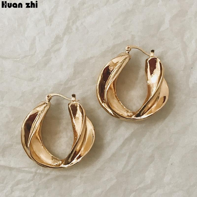 Exaggerated Trendy Metal Winding Ball Dangle Earrings Geometric Irregular Round Ball Pendants Jewelry