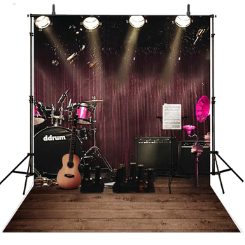 Music Photography Backdrops Stage Vinyl Backdrop For Photography Lighting Background For Photo Studio Foto Achtergrond photography backdrops spirit horse ranch mountain sky custom photo studio backdrop background vinyl photo background