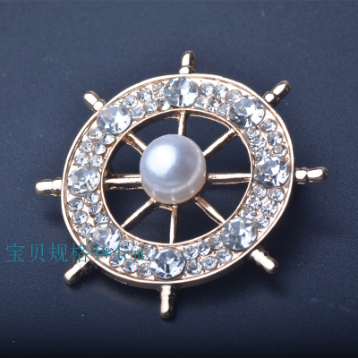 PULATU Crystal Flower Brooch For Women Elegant Rose Gold Color Badges JOCESTYLE Cat Eye Stone silver Popular Drip Badge Pin Suit