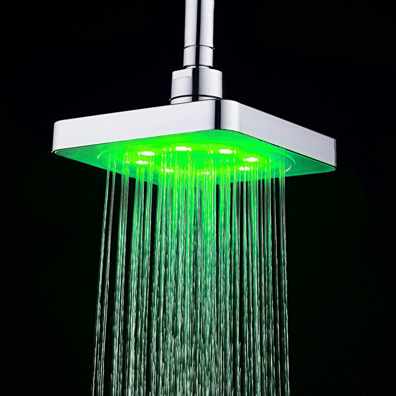 Bathroom Fixtures Shower Equipment Sensible Led Shower Head Color Changing Shower Head No Battery Bathroom Accessories