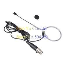 Frete Grátis Preto Ear Gancho Headset Cabeça Microfone para Microfone Shure Bodypack Sistema De Microfone Sem Fio com Conector XLR TA4F Mini 4Pin