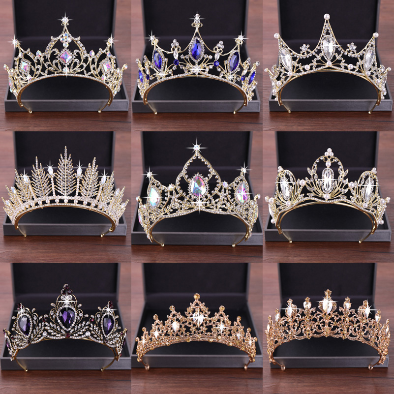 New Wedding Hair Accessories Crystal Tiara For Brides Crown Gold Head Piece Bridal Hair Accessories Crystal Crowns Queen Diadem-in Hair Jewelry from Jewelry & Accessories on Aliexpress.com | Alibaba Group