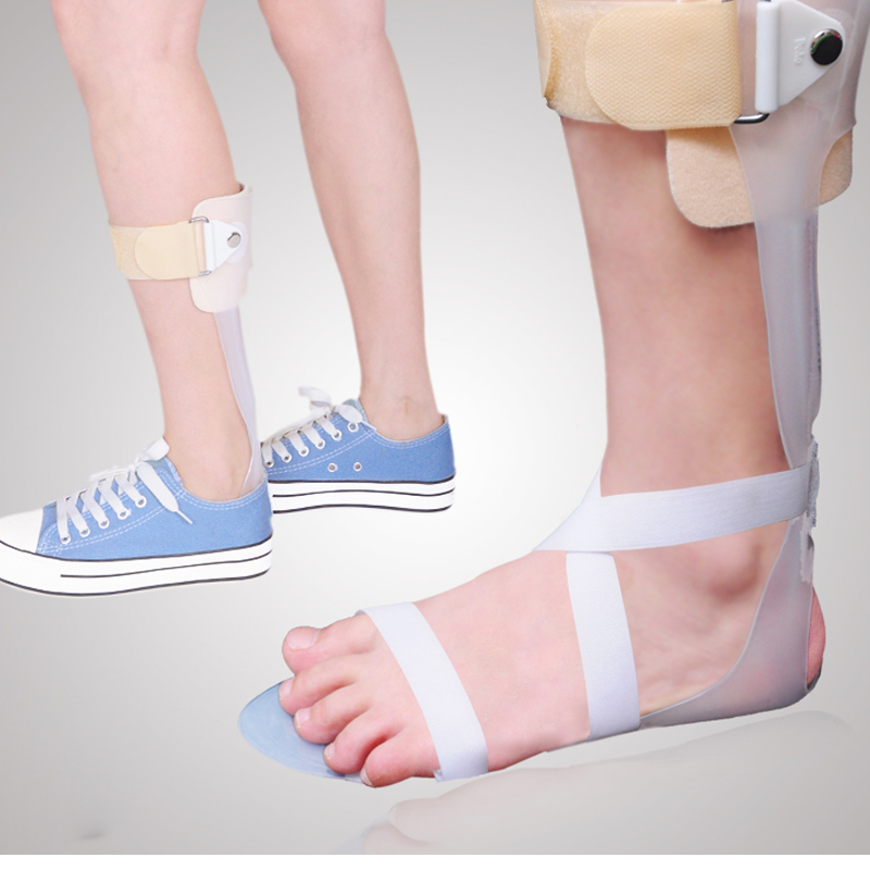 JORZILANO Left Right Ankle Foot Drop Brace Orthosis Splint Leaf Spring Recovery Correction Inside Outside Turning Hemiplegia new 2pcs female right left vivid foot mannequin jewerly display model art sketch