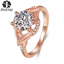 New Designer Bijoux Extreme Sparkling Round Turkish Gold-color Jewelry Fashion CZ stones AAA Quality Wedding Band Ring 2017
