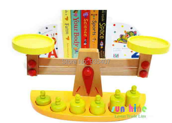 Weight balance scale Baby toys wooden