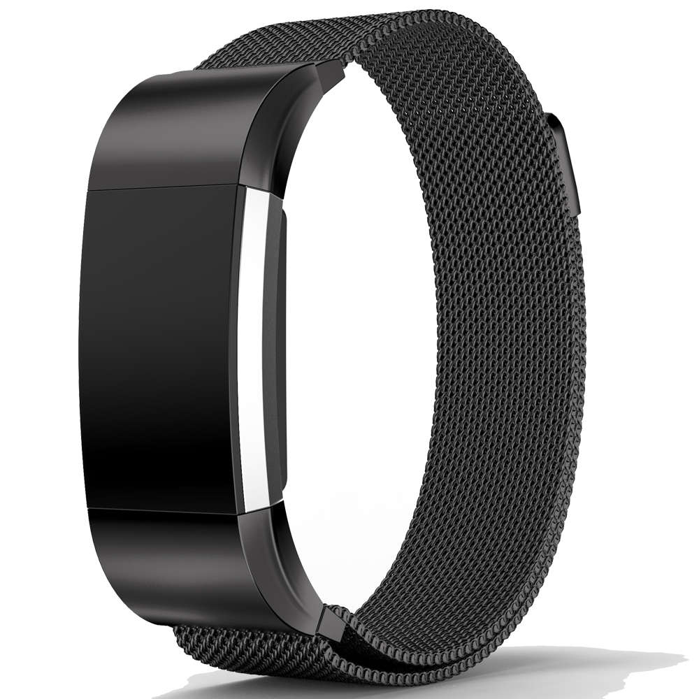 Bemorcabo Magnetic Milanese Loop Mesh Stainless Steel Bracelet Replacement Straps Bands For Fitbit Charge 2 Band Strap 4 Colors