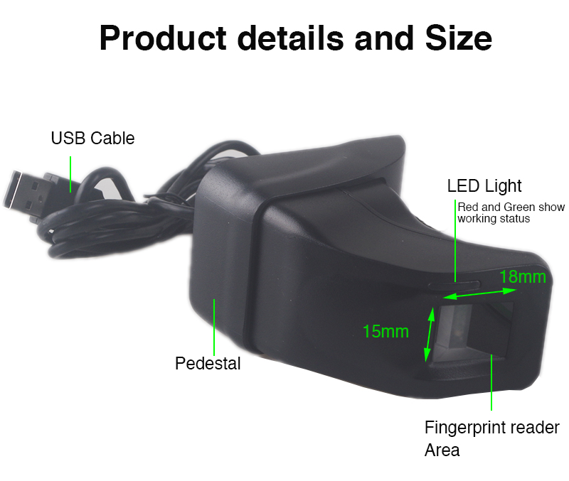 Details about Fingerprint Scanner With Retail Box ZK4500 USB Fingerprint  Reader Sensor
