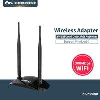 COMFAST Haute Puissance 300 M USB Sans Fil WiFi Adaptateur Réseau Carte adaptador USB WiFi antenne wi-fi dongle 802.11b/g/n CF-WU7300ND