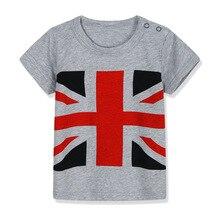 Bandera Americana niños camiseta niños t camisa camisetas camisas de manga corta de verano niños camisetas de dibujos animados bebé niño de algodón de la ropa de las niñas